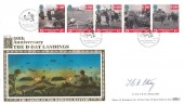 1994 D Day, Benham SPG 24 FDC, 50th Anniversary D Day Landings The Silencing of the Melville Battery BF 2420 PS H/S, Signed by Lieutenant Colonel Terence Otway