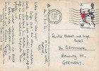 1966 World Cup, German Postcard, 4d World Cup 66 stamp only, Hatfield Herts. Cancel