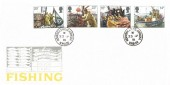 1981 Fishing, Post Office FDC, Hornsea Bridge  Hornsea N.H.Side cds