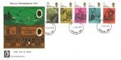 1970 Literary Anniversaries, Cameo FDC, Rochester Kent FDI