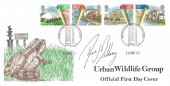 1984 Urban Renewal, The Urban Renewal Wildlife Group FDC, Birmingham Philatelic Counter H/S, Signed by David Bellamy