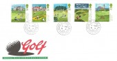 1994 Scottish Golf Courses, Royal Mail FDC, House of Lords SW1 cds