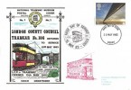 1983 Engineering, Dawn National Tramway Museum FDC, Derby FDI, First Day of Service Crich Cachet