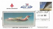 1983 Engineering, Benham British Aerospace Dan Air FDC, 16p stamp only, 30 Years Experience Dan Air London (Gatwick) Airport West Sussex H/S