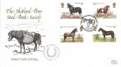 1978 Horses, The Shetland Pony Stud Book Society Official FDC,  Shetland Pony Stud Book Society Haroldswick Unst Shetland H/S.