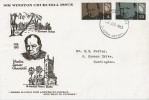 1965 Sir Winston Churchill, Holmes Tolley FDC, Bladon Oxford FDI