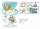1968 British Anniversaries, Philart Captain Cook FDC, Bromley & Beckenham FDI