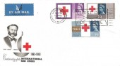 1963 International Red Cross, BPA / PTS FDC, Phosphor Set, First Day of Issue Slogan Liverpool