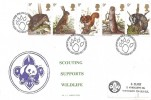 1977 British Wildlife, Scouting Supports Wildlife FDC, First Day of Issue Philatelic Bureau Edinburgh H/S