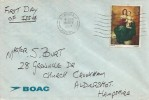 1967 Christmas 4d, BOAC FDC, Farnham Surrey Cancel