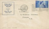 1948 Silver Wedding, National Union of Furniture Trade Operatives FDC, 2½d stamp only, Glasgow S.E.D.0 Cancel
