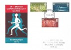 1970 Commonwealth Games, Historic Relics FDC, Edinburgh FDI
