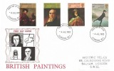 1973 British Paintings, Historic Relics FDC, London W1 FDI