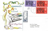 1965 Commonwealth Arts Festival, Registered Connoisseur FDC, Buckingham Palace SW1 cds