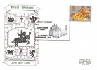 1974 Great Britons, Matching Set of 4 Historic Relics FDC with Appropriate H/S