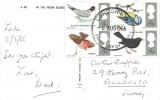 1966 British Birds, Hi Ya from Sussex Colour Postcard, London SW FDI