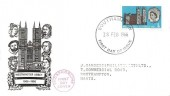1966 Westminster Abbey, BPA / PTS FDC, 3d Phosphor, Southampton FDI, Phosphorline First Day Cover Cachet