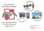1965 Battle of Britain, Rocznica Bitwy Polish FDC, 4d, 9d, & 1/3 Ordinary stamps only, Leicester FDI