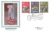 1970 Christmas, Textiles & Philately FDC, First Day of Issue Bethlehem Llandeilo Carms. H/S