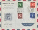 1957 QEII ½d, 1d, 1½d, 2d 1857 - 1957 Tangier Overprint, Illustrated Last Day Cover, British Post Office 1857 Tangier 1957 cds
