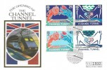 1994 Channel Tunnel, Westminster FDC, First Day of Issue Folkestone H/S