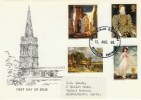 1968 British Paintings Parish Church Kettering Official FDC, Parish Church Restoration Kettering Northants. H/S