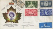 1953 Coronation, Registered Canadian Illustrated FDC, Tangier Overprint, British Post Office Tangier cds
