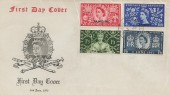 1953 Coronation, Illustrated FDC, Tangier Overprint, British Post Office Tangier cds