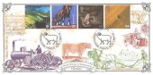 1999 Farmers' Tale, Bradbury Victorian Print VP236 Official FDC, Farmers Sheepscombe Stroud Glos. H/S