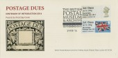 2014 Centenary of the Postage Dues BPMA Postage & Go, British Postal Museum FDC, The British Postal Museum & Archive London WC 1N H/S