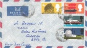 1966 British Technology, Air Mail Envelope FDC, Field Post Office 187 used in Cyprus