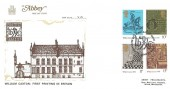 1976 William Caxton, Abbey FDC, First Day of Issue London SW1 H/S