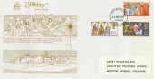 1969 Christmas, Abbey FDC,  First Day of Issue Bethlehem Llandeilo Postmark