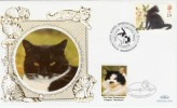 1995 Set of 5 Benham Small Silk FDC's Cats Protection League Labels