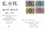 1977 Silver Jubilee, Illustrated Exeter FDC, Exeter District FDI