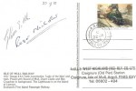 1985 Famous Trains, Mull & West Highlands Railway Card FDC, 17p Flying Scotsman stamp only, Aros Isle of Mull cds, Signed