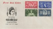 1953 Coronation Tangier Overprinted, Illustrated FDC, British Post Office Tangier cds
