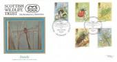 1985 British Insects, Pilgrim Official FDC, 21st Anniversary Scottish Wildlife Trust Edinburgh H/S