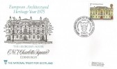 1975 Architecture, National Trust for Scotland Official FDC, 7p Charlotte Square stamp only, The National Trust for Scotland The Georgian House 7 Charlotte Square Edinburgh H/S