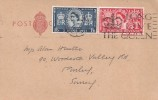 1953 Coronation, Plain Post Card, 2½p & 1/6d Coronation stamps only, Long Live the Queen London W1 Slogan