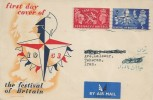 1951 Festival of Britain, Festival of Britain Souvenir FDC, London SW1 Cancel