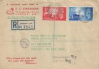 1948 Channel Islands Liberation, E C Ehrmann Registered FDC, South Western District Office SW1 cds