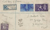 1946 Victory, Registered Plain FDC, Rochester Kent cds, Posted Out of Course & Surcharged 3d