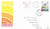 1978 Energy, Post Office FDC, 13p Electricity stamp only, The Electricity Council Appliance Testing Labs Cleeve Road Leatherhead Surrey Meter Mark + Epsom Surrey FDI