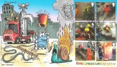 2009 Fire & Rescue, Phil Stamps Official FDC, Hose Melton Mowbray Phil Stamp Collection H/S