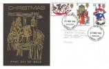 1968 Christmas, Black & Gold Thames FDC, Bethlehem Llandeilo Carms. FDI
