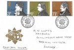 1971 Literary Anniversaries, Strand Hotel Stockholm Sweden FDC, First Day of Issue Philatelic Bureau Edinburgh H/S