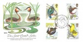 1980 British Birds, Fleetwood Great Crested Grebe FDC, First Day of Issue Philatelic Bureau Edinburgh H/S