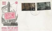 1965 Sir Winston Churchill, International Telecommunication Union FDC, Larkfield Maidstone Kent cds