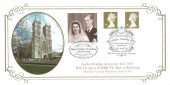 1997 Golden Wedding, Steven Scott Official FDC, 50th Anniversary The Golden Wedding Year Westminster Abbey London SW1 H/S, Doubled 13th November 20p Royal Golden Wedding Anniversary Westminster London SW1 H/S